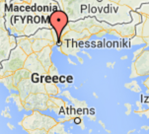 Map of Greece and the location of Ktima Gerovassiliou winery