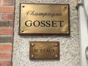 Champagne Gosset in Epernay is owned by the Cointreau Family