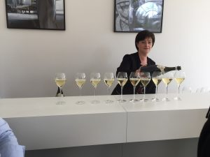 Pouring the tasting at Champagne Gosset