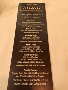 Oregon Chocolate Festival, Chocolate & Wine Pairing Dinner
