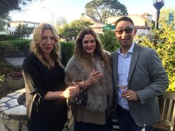 The Wine Siren, Kelly Mitchell with Drew Barrymore and Kris Kato at Restaurant 1833 Monterey