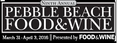 Pebble Beach Food and Wine Festival 2016