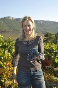 Nicole Rolet of Chene Bleu with some of the harvest