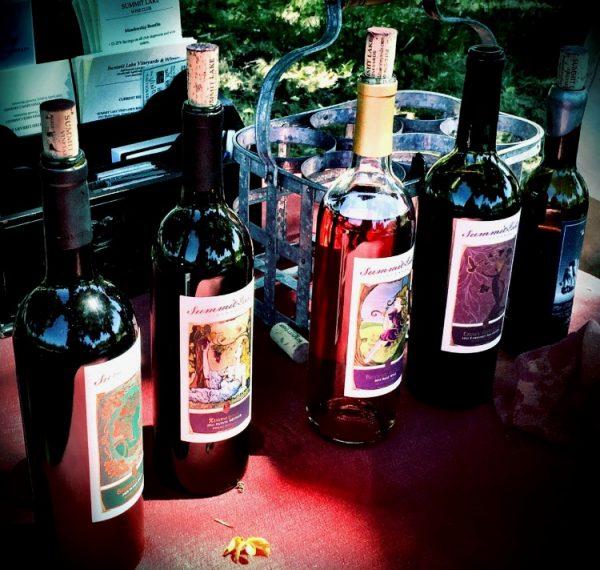The wines of Summit Lake Vineyard