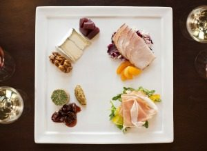 Charcuterie platter at St. Francis Winery