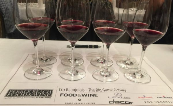 Beaujolais Gamay Poured at Pebble Beach Food and Wine
