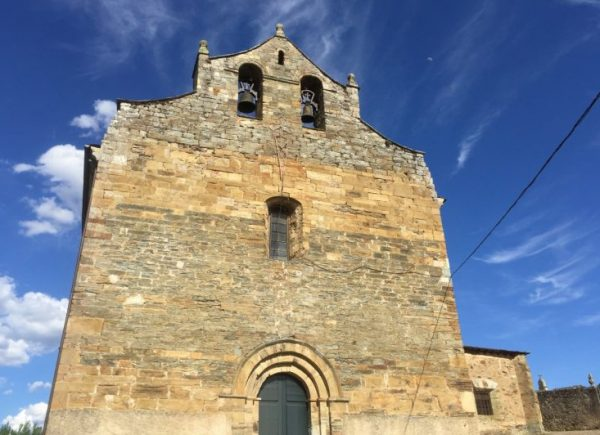 The church of Santiago in Villafranca, Bierzo, Spain