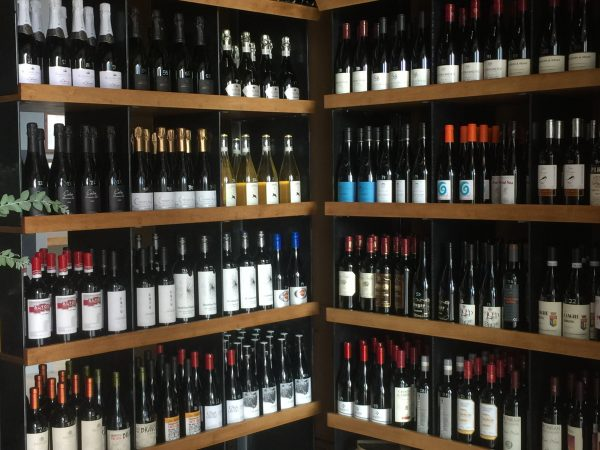 Compline's retail wine store within the restaurant.