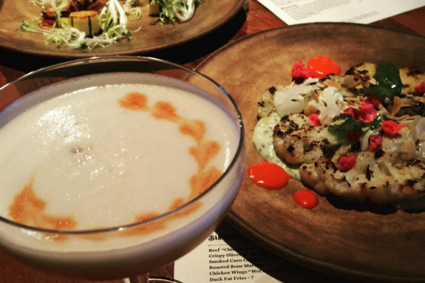 Sample dishes of Goose and Gander, Napa Valley Restaurant Week Participant