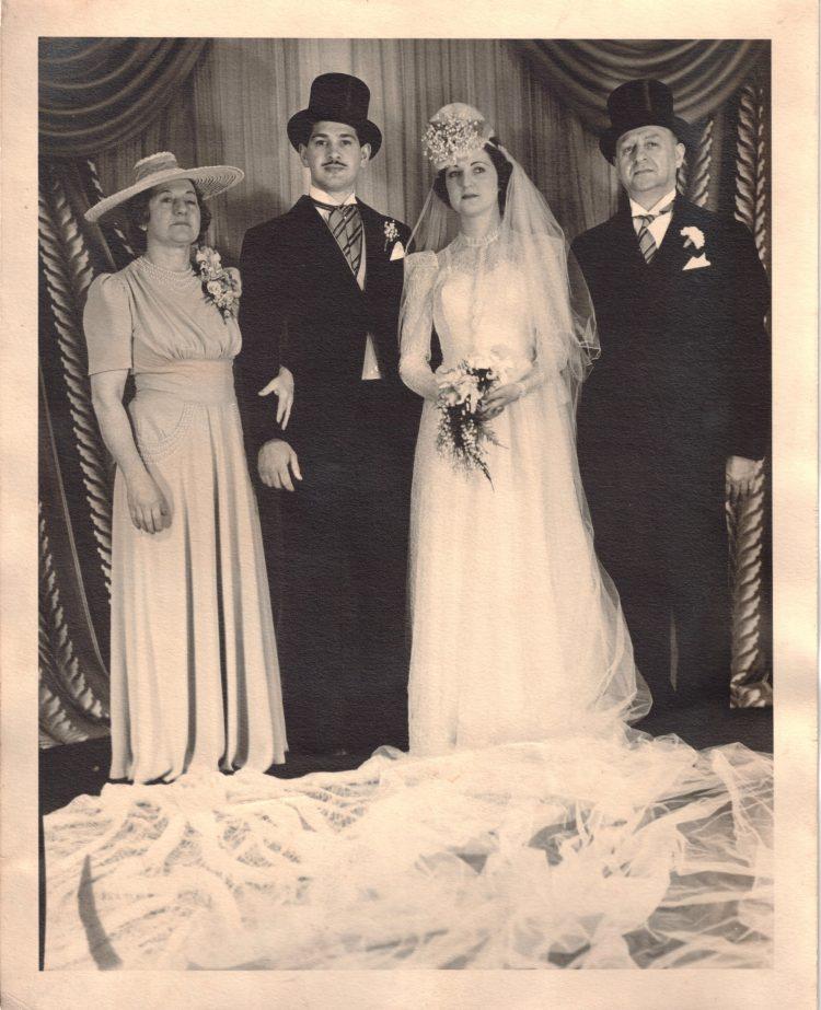 Hy Edythe Frank Wedding Day Family