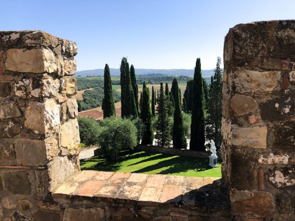 this view is from the Pogge alle Mura aka Castello di Banfi, Tuscany