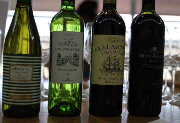 Red and white wines from Chateau Malartic-LeGraviere & Diamandes in Argentina