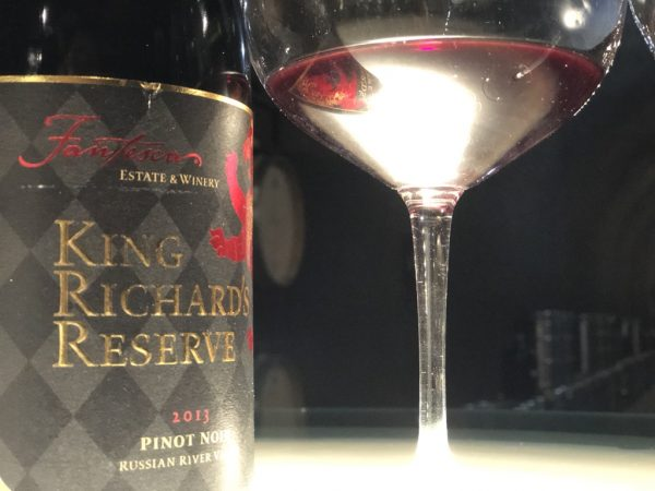 Fantesca's King Richard Reserve Bottle and glass