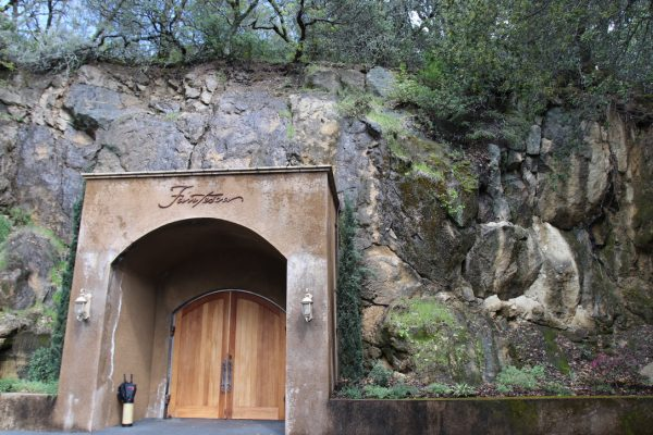The entrance to the caves at Fantesca