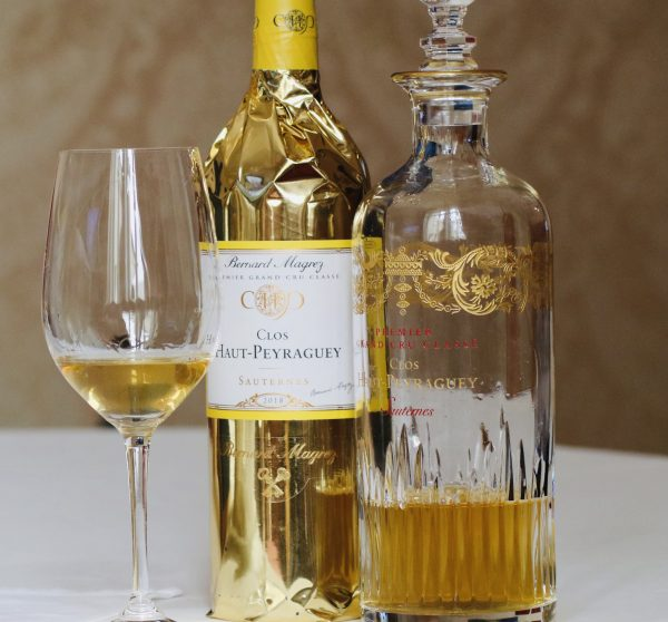 Liquid gold. Sauternes by Bernard Magrez and it looks like real gold.