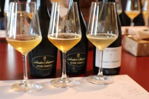 3 different vintages in this vertical Prosecco tasting each darker richer than the next