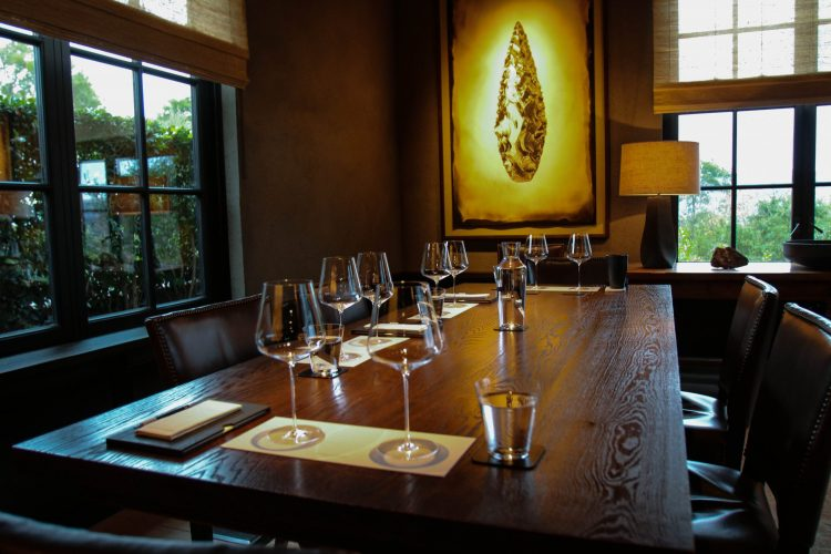 One of the ultra private tasting room at Promontory