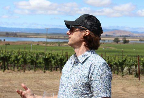 Assist Winemaker Erik Goodmanson overlooking San Pablo Bay one of Carneros' most important influences